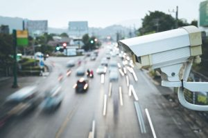 Surveillance Cameras Monitor Traffic