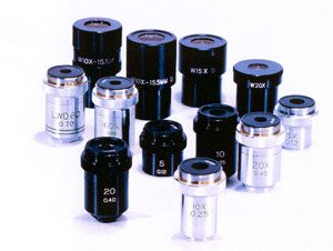Microscope Objective and Eyepieces