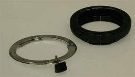What's New: T mount to Nikon F adapter